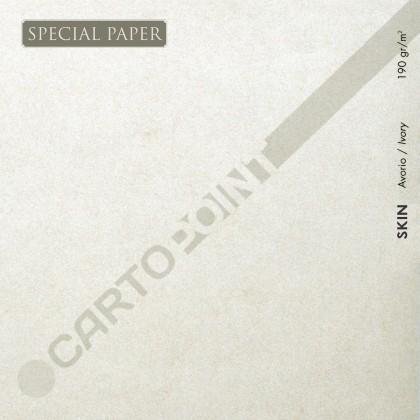 SPECIAL PAPER Carta SKIN AVORIO A4 - cm. 21x29,7 190 gr/mq (scatola da 50 fogli )