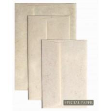 SPECIAL PAPER Buste carta SKIN AVORIO cm. 11x22 TQ G 110 gr/mq (confezione da 25 buste)