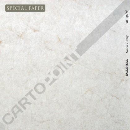 SPECIAL PAPER Carta MARINA AVORIO A4 - cm. 21x29,7 90 gr/mq (scatola da 100 fogli)