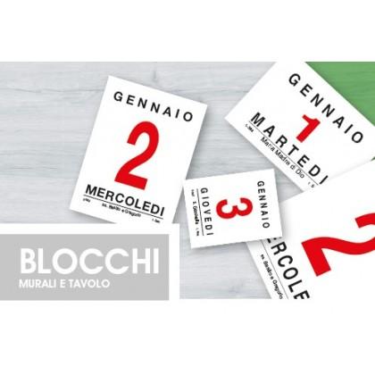 Blocchi calendari da tavolo in varie misure
